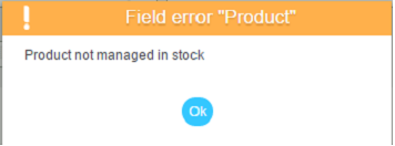 Product not managed in stock