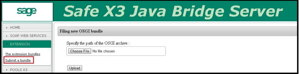 Upload the JAR file in java