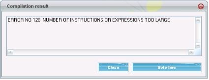 expression too large error