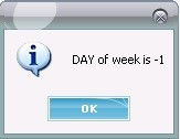 get day of week
