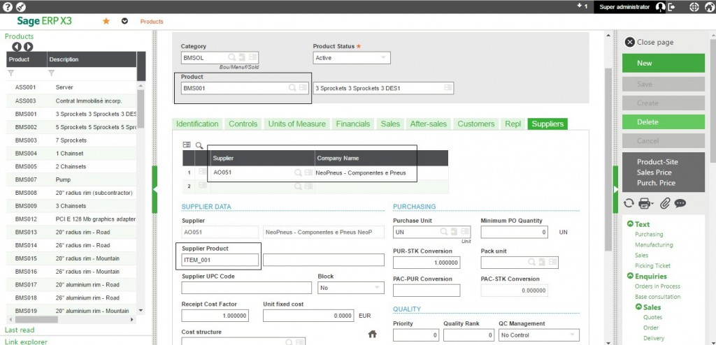 Allow Supplier Product Ref on PO