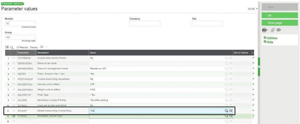delete Supplier Intercompany Invoice