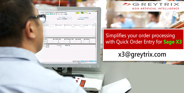 quick order entry in sage x3
