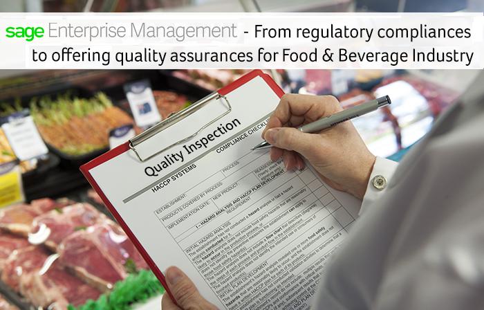 sage enterprise management food industry