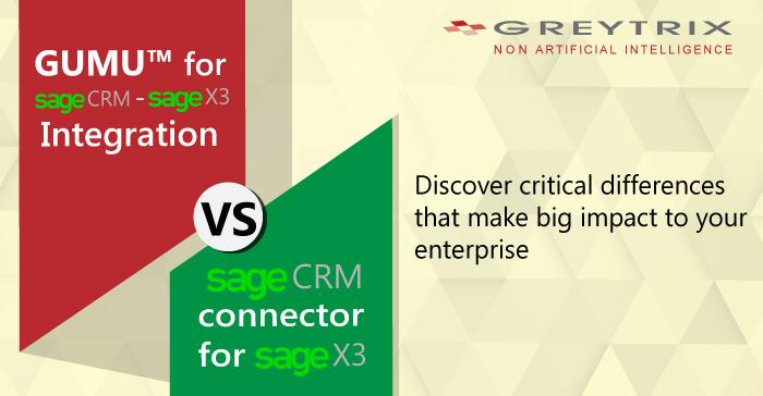 GUMU™ integration for Sage X3 – Sage CRM