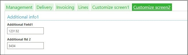values from screen one are placed in the second screen