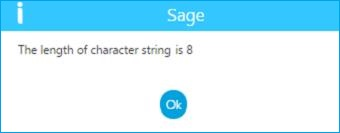 length of character string