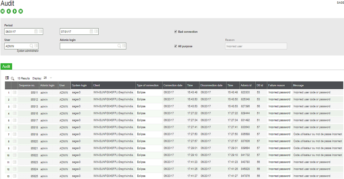 Auditing Connections in Sage ERP X3 – Sage X3 – Tips, Tricks