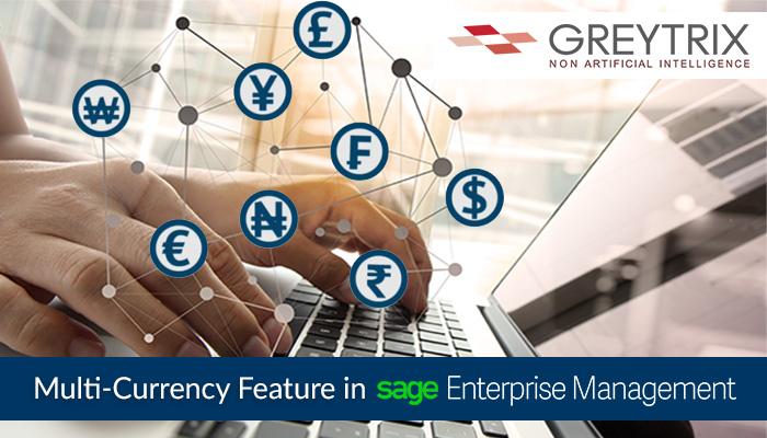 multi currency in sage enterprise management