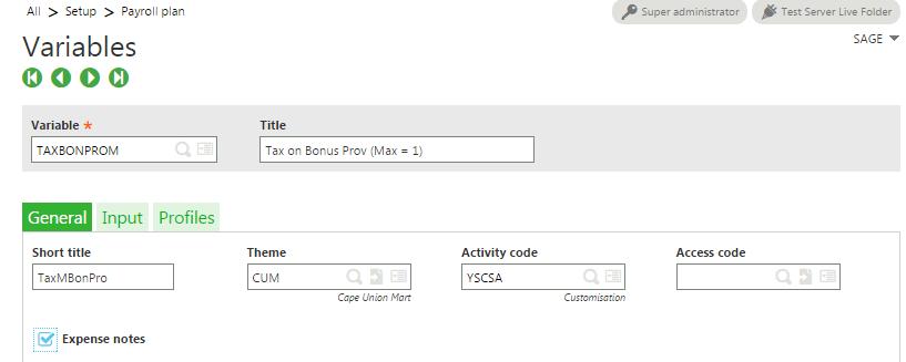 Setup Variable for a portal default value