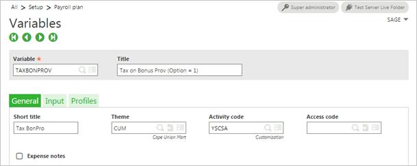 configure portal expense claims