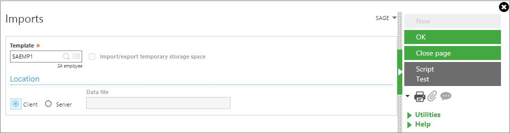 create upload format