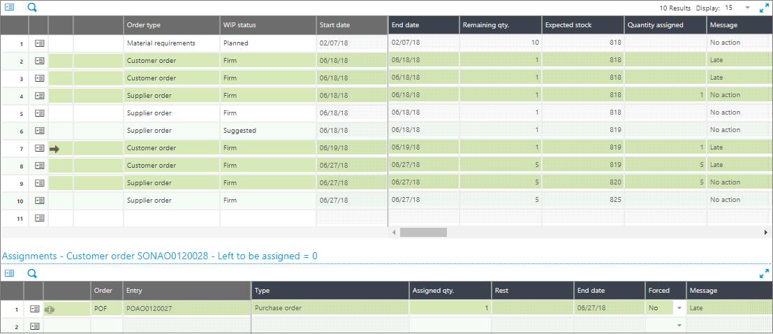Assignment Workbench Screen