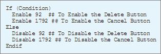 Disable button through Statuses