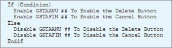 Disable button through Variables