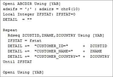 csv file using separator
