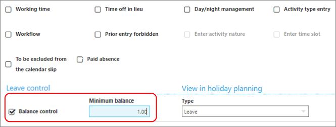minimum Leave balance