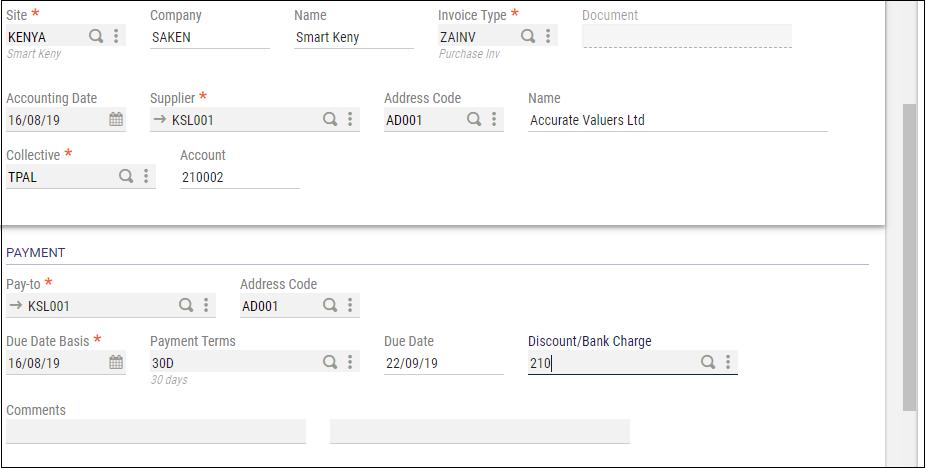 AP/AR Supplier BP Invoice