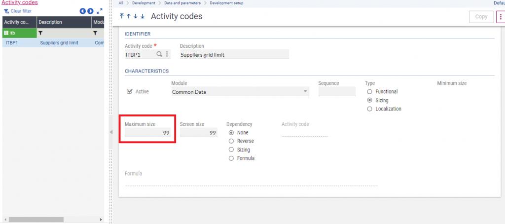 Activity Code