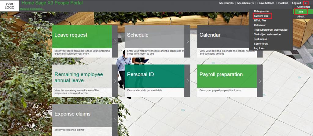 ESS Portal homepage