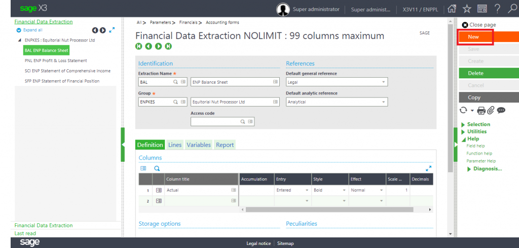 Financial Data Extraction Landing page