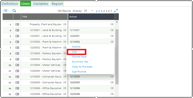 Financial Data Extraction Line Tab