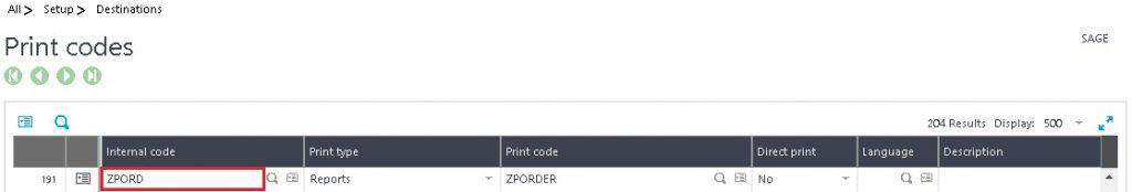 Print Code