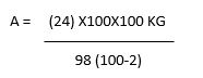 Formula used in example