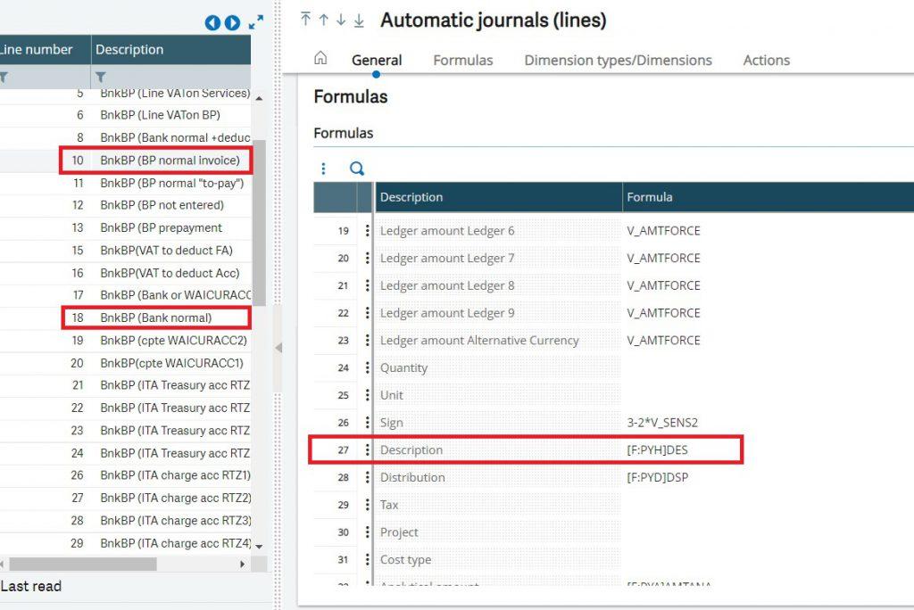 Line no. 10 & 18 having Description field on Automatic Journals(lines)
