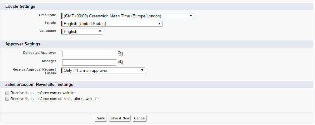 DateTime field and Time Zone Settings in Salesforce