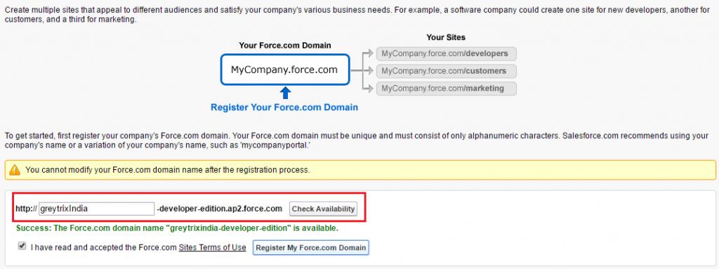Force.com Domain