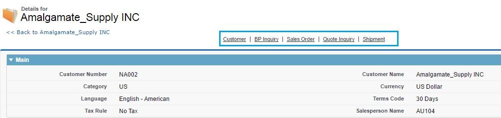ERP Details tab
