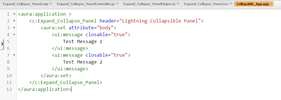 Expand and Collapse panel using Lightning Component – Salesforce com