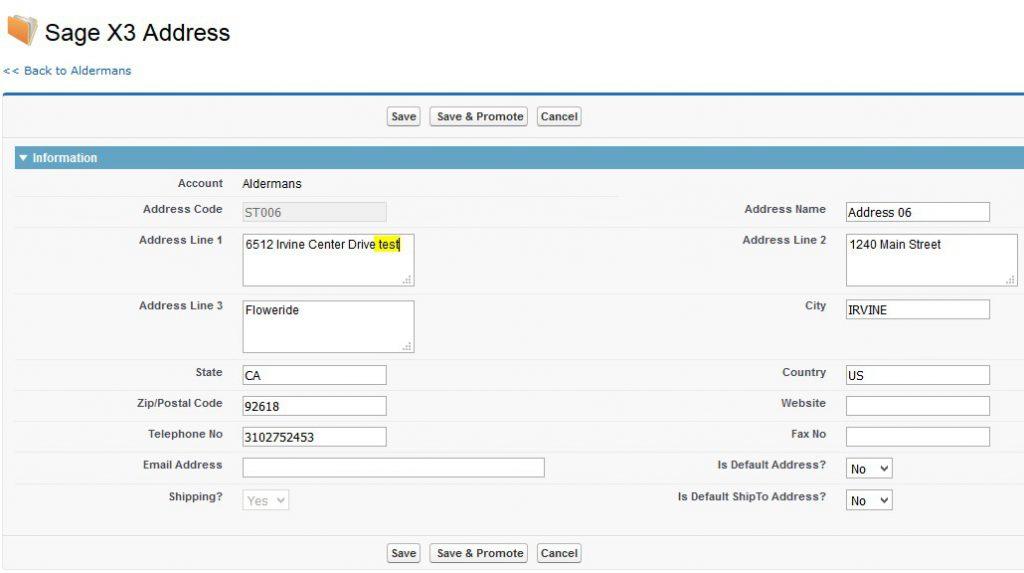 Modify Address