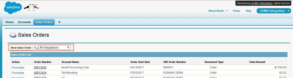 Order List - Sage 100