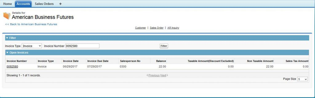 Filter by Invoice Number