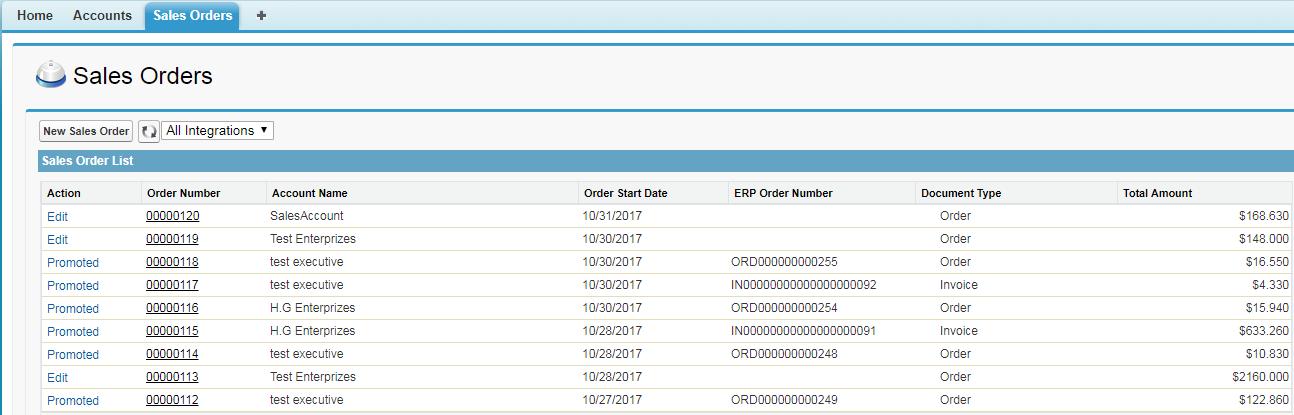 GUMU Sales Order List Screen