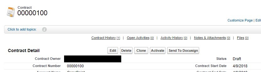Click on Send to DocuSign button for sending the document for signature