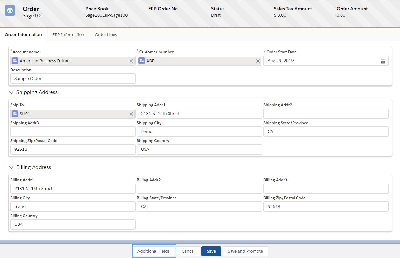 GUMU Sales Order Screen