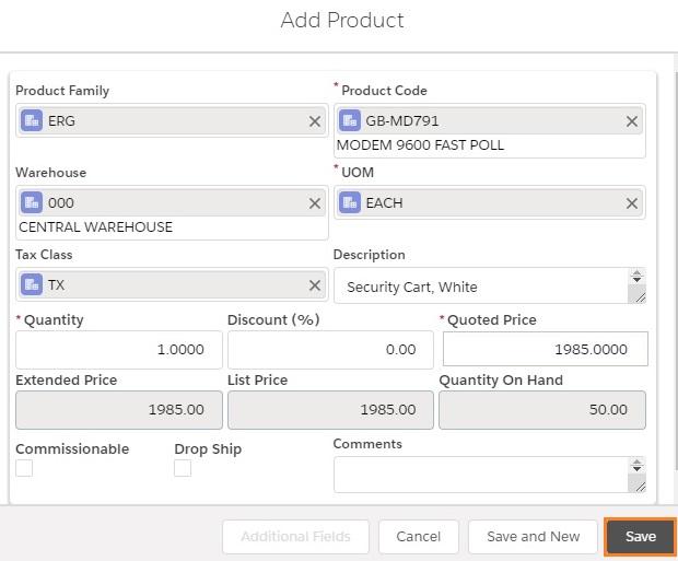 GUMU Order - Product Save