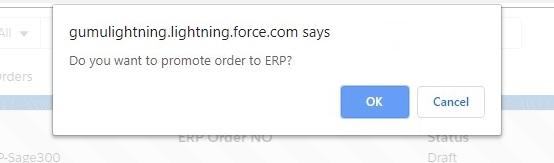 Sage 300 Order Promotion Confirmation
