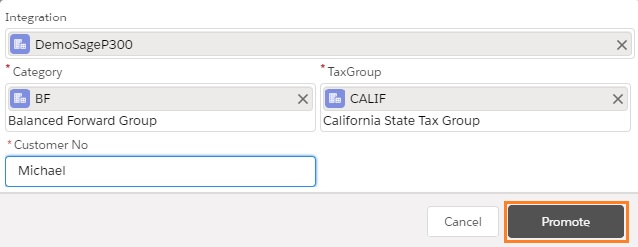 Default Values Selected