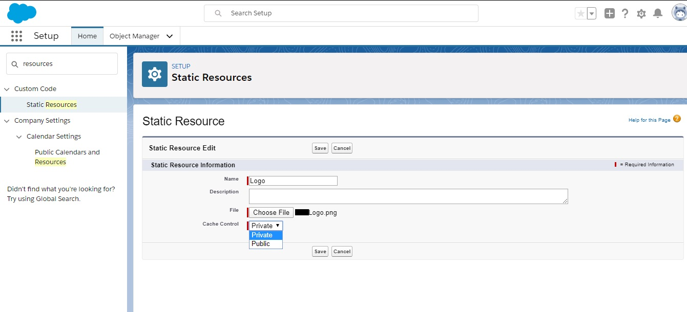 Create Static Resources file