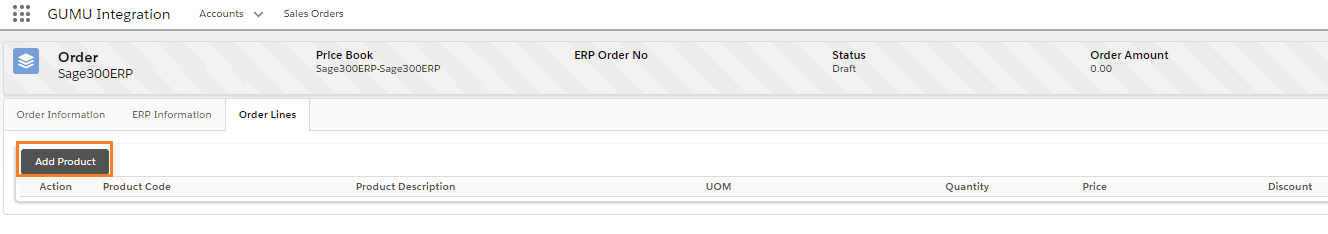 Add Product Button On Sales Order