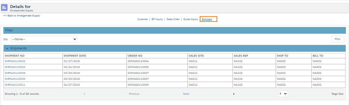 Shipment Inquiry