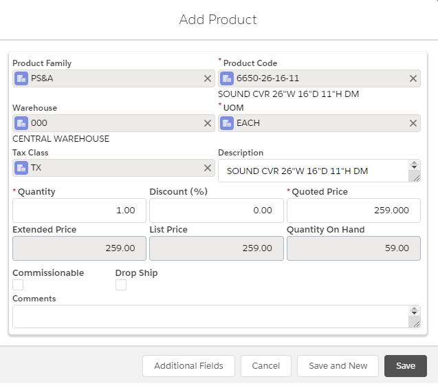 Custom GUMU Add Product Screen
