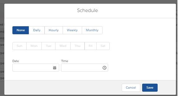 Bulk Posting Scheduler Window