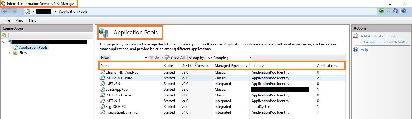 IIS Application Pools