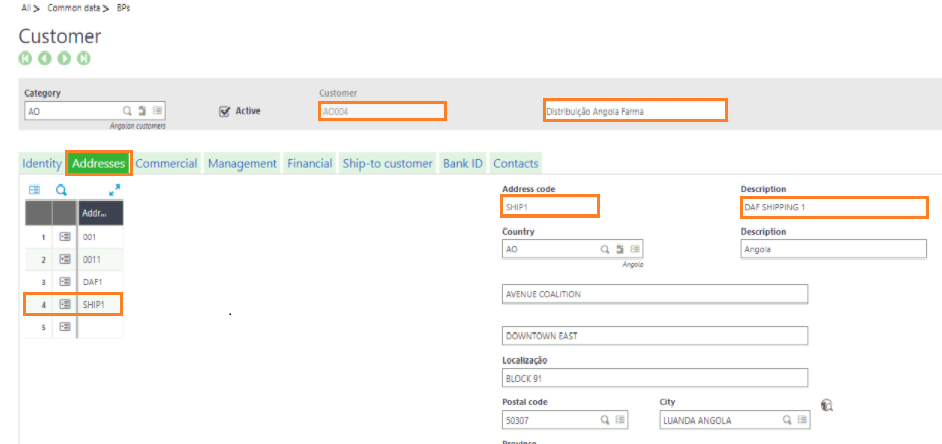 Promoted Shipping Address in Sage X3