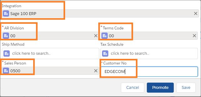 Promote Customer Screen